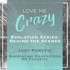 Want to know the whats and what nots of the contemporary romance Love Me Crazy by Camden Leigh? Access Week 8 of the Evolution Series: Behind the Scenes of Love Me Crazy and learn about my favorite secondary character. The series contains never before seen cut scenes, character studies and why certain elements were chosen for Cassidy & Quinn's new adult southern love story. This book is available for download at Amazon http://amzn.to/2d29glZ  Available on audible.