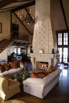 Neat Marble Fireplace