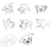 Pit Bull Smiles by Coloran on DeviantArt Cartoon Dog Drawing, Cartoon Sketches, Animal Sketches, Cartoon Styles, Cartoon Art, Animal Drawings, Art Drawings Sketches, Dog Drawings, Drawing Ideas List