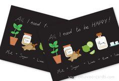 Mojito TIme: Original Greeting cards for Mojito lovers by e-MoVeo Cards Geburtstagskarte Auguri Compleanno #Birthday #Geburtstagskarte #Biglietto #compleanno #Mojito www.emoveo-cards.com
