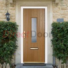 Lifestyle Image of External Simplicity Chapleton A3 Composite Door, shown in Oak