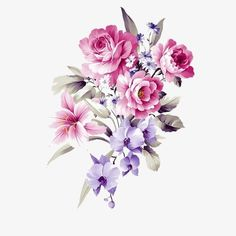 Flores Roxas, Roxo, Flores, Flores PNG Image and Clipart Flower Bouquet Drawing, Flower Art, Flower Bouquet Png, Bunch Of Flowers, Purple Flowers, Gulab Flower, Tropical Flower Tattoos, Purple Flower Tattoos, Watercolor Projects