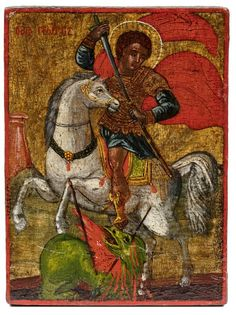 Origin Of Christianity, Patron Saint Of England, Art Tablet, Saint George And The Dragon, Saint Georges, Tribe Of Judah, Russian Icons, Biblical Art, Byzantine Art