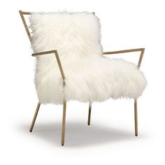 ANSEL WHITE TIBETAN FUR CHAIR ❤ liked on Polyvore featuring home, furniture, chairs, accent chairs, tibetan furniture, white chair, white fur chair, white furniture and retro-classic white accent chairs