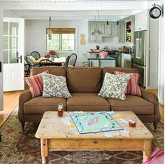 Combo of casual and quot fancy quot lake burton living living room craig