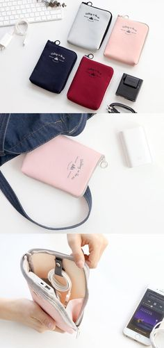 This is a pouch that knows how to organize your cables, earphones, external batteries, USB stick, and more! The padded wall makes it excellent for safely protecting your items inside, and the extended L-shape zipper gives you an easier access to your items.