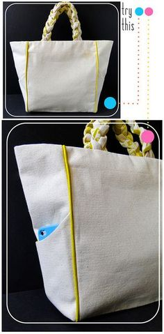 fabric paper glue try this piped pocketed canvas tote bag tutorial