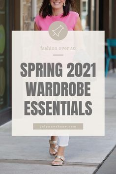 These are the classic wardrobe pieces that provide a good foundation for a workable spring wardrobe. Check out this post for all women's spring wardrobe suggestions.