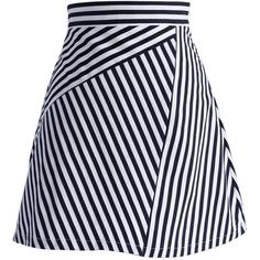 Chicwish Stripes Sassy Fitted Bud Skirt (52 AUD) ❤ liked on Polyvore featuring skirts, multi, stretchy skirts, black and white stripe skirt, stripe skirt, striped skirt and stretch skirt