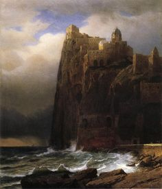 William Stanley Haseltine (1835-1900) - Coastal cliffs aka ischia