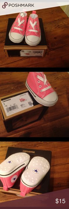 Converse First Star Baby Kicks Classic pink Chuck Taylor's for baby's first pair of shoes.  NIB. Converse Shoes Baby & Walker