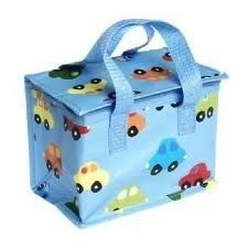Recycled Plastic, Insulated lunch Cool bag, Zip closure with carrying handles.  http://www.lissiloos.co.uk/Insulated_Lunch_Bag_Cars_p/1082.htm