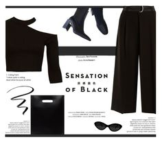 Mission Monochrome: All-Black Outfit All Black Outfit, All White, Max Mara, Monochrome, Polyvore, Outfits, Furniture, Fashion, Moda