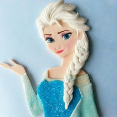 Elsa frozen fondant cake topper by DsCustomToppers on Etsy