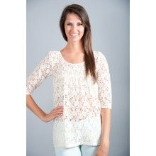 EVERLY: Sweet On You Blouse-Ivory - $40.00