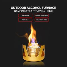 High Quality Portable Ultralight Aluminum Alcohol Stove AT PCT Trails
