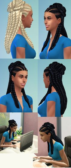 Sims 4 CC's - The Best: Alina Dreads by Birksche