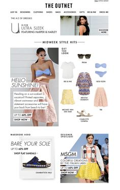The outnet fashion newsletter