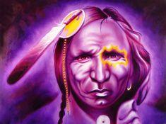 Native American Art Painting - Dark Night by Robert Martinez kp