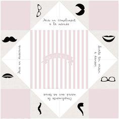 les moineaux de mariée cocotte en papier sablier animation menu template