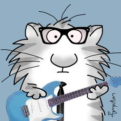 February 3. One cool cat. Rave on, Buddy Holly. #thedaythemusicdied. Sandra Boynton