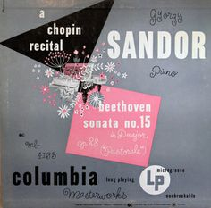 Columbia Records — Gyorgy Sandor - A Chopin Recital. Cover by Alex Steinweiss, 1949