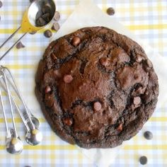 XXL Death By Chocolate Cookie For One  Omit the Baking Soda--discusting.  Replace with a little baking  powder.