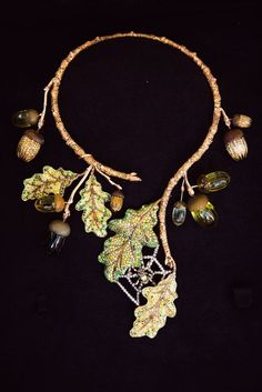 Mother Nature- make necklace from silk flower vine.