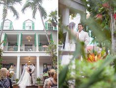 Audubon House key west wedding ceremony