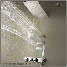Trend-setting built-in thermostatic taps The design of contemporary bathroom spaces conceives tapware as a decorative element that can add beauty and style, as well as functionality. The range of built-in ther. Contemporary, Building, Taps, Showers, Design, Range, Decor, Spaces, Bathroom