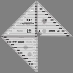 """Creative Grids Multi Size 6"""" Flying Geese & 45 Degree & 90 Degree Triangle"""