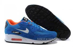 http://www.nikekwazi.com/nike-air-max-90-womens-blue-white.html NIKE AIR MAX 90 WOMENS BLUE WHITE Only $81.00 , Free Shipping!