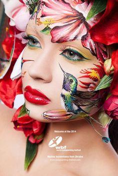 Campeonato mundial de pintura de corpo ocorre na Áustria