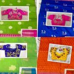 Silk Sarees with Hand Embroidered Blouses