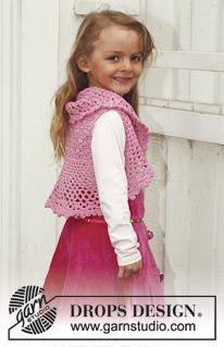 "Crochet DROPS bolero in ""Muskat"". Size 3 - 12 years. ~ DROPS Design Tutorial  ༺✿Teresa Restegui http://www.pinterest.com/teretegui/✿༻"