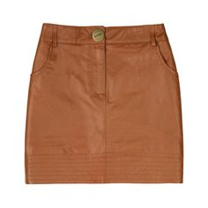 Lover Leather mini skirt (400 CAD) ❤ liked on Polyvore featuring skirts, mini skirts, bottoms, faldas, polleras, leather miniskirt, genuine leather skirt, leather zipper skirt, brown skirt and brown leather skirts