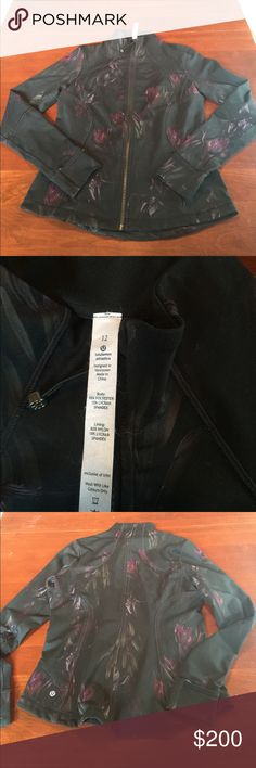 Rare lululemon midnight iris forme jacket Rare color and size combination. This is from my own personal collection, thus the high price because I don't want to let it go for much less. Measurements available upon request. All my items come from a smoke free home. I do have furry pets but I try my best to keep items fur free! lululemon athletica Jackets & Coats