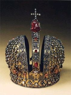 Russian Crown Jewels ~ The Crown of the Czarina Anna by kara