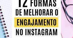 Engajamento do Instagram - 12 dicas infalíveis para aumentar o seu agora! Marketing Digital, Instagram Story, Storytelling, Social Media, Ads, Youtube, Social Media Tips, Social Media Marketing, Blog Tips