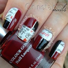 How amazing are these nail design!!  I love it! ❤  Nails by @christabellnails - @thenailartstory- #webstagram