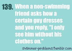 I still have no idea what half the people I used to swim with even look like with clothing or hair.