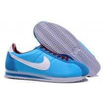 pretty nice 90770 28fbc Inimitable Nike Classic Cortez Nylon Homme Lumière Bleu Blanc Rouge Running  Chaussures-20 Zapatillas Nike