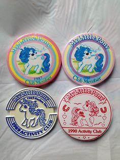 Vintage 1987 1988 1989 1990 My Little Pony Club Membership Badges   eBay