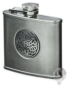 Wedding Gifts Scottish Flasks Celtic Knot Flask