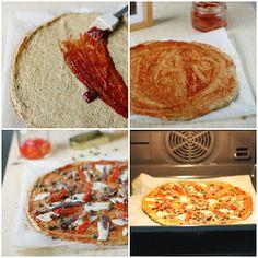 """Bocados fit: """"Pizza"""" de coliflor"""