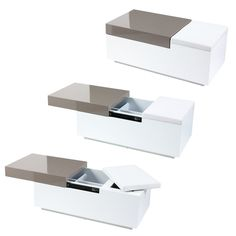 Great for the end of a bed, this Conceal storage box has two hidden compartments with a padded seat.