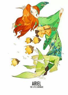 PRINCESS x KIMONO!! Best of Disney Art by STAR影法師(@starshadowmagic)