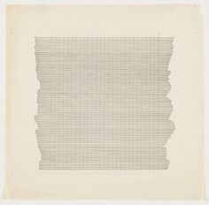amdctx:    Several works by Agnes Martin are on display at The Modern in Fort Worth, TX. Love the grid-based simplicity of these drawings.  (via MoMA | The Collection | Agnes Martin. Untitled. 1960)