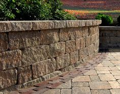 Estate Wall Stone Garden Wall - For details and additional information on #gardenwalls from Valley City Supply, please contact us at 330-483-3400 or visit our website at ValleyCitySupply.com. #wallstone #unilock #patioseating #stonewall