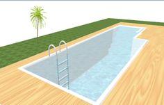 piscina interrata creata da me con sweet home 3d